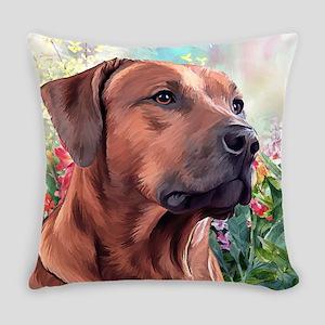 Rhodesian Ridgeback Painting Everyday Pillow