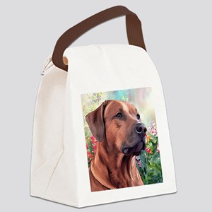 Rhodesian Ridgeback Painting Canvas Lunch Bag