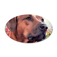 Rhodesian Ridgeback Painting Wall Decal