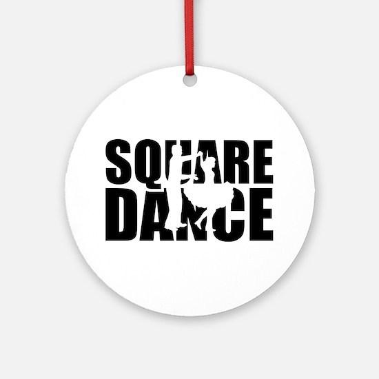 Square dance Round Ornament