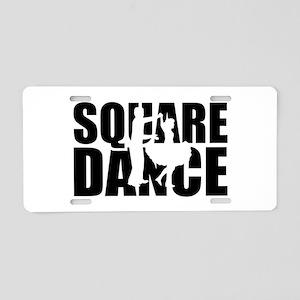 Square dance Aluminum License Plate