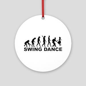Evolution swing dance Round Ornament