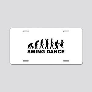 Evolution swing dance Aluminum License Plate