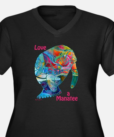 Manatees of Many Colors Plus Size T-Shirt