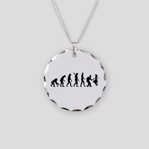 Evolution swing dance Necklace Circle Charm