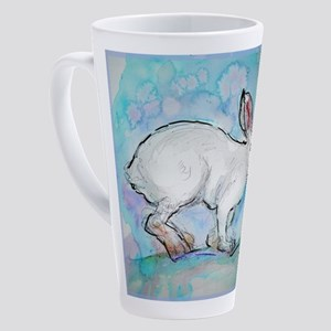 Snowshoe rabbit, Wildlife art! 17 oz Latte Mug