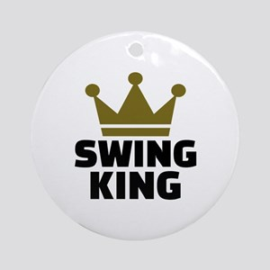 Swing king Round Ornament
