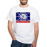 Antarctica Mens Classic White T-Shirts