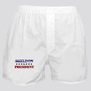SHELDON for president Boxer Shorts