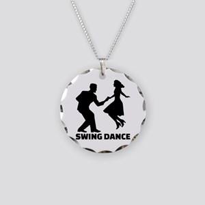 Swing dance Necklace Circle Charm