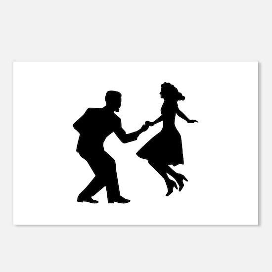 Swing dancing Postcards (Package of 8)