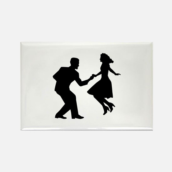 Swing dancing Rectangle Magnet