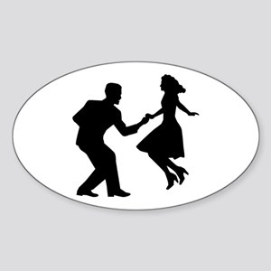 Swing dancing Sticker (Oval)