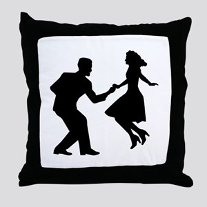 Swing dancing Throw Pillow