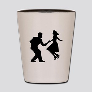 Swing dancing Shot Glass