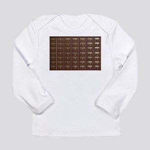 Vintage Library Card Catalog D Long Sleeve T-Shirt
