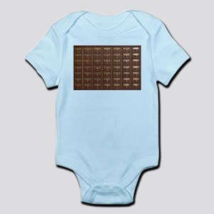 Vintage Library Card Catalog Drawers Body Suit