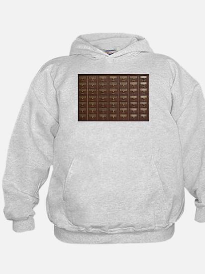Vintage Library Card Catalog Drawers Sweatshirt
