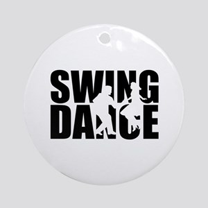 Swing dance Round Ornament