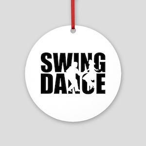 Swing dance Round Ornament