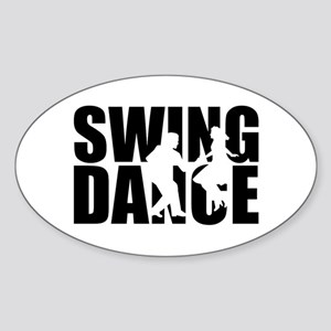 Swing dance Sticker (Oval)