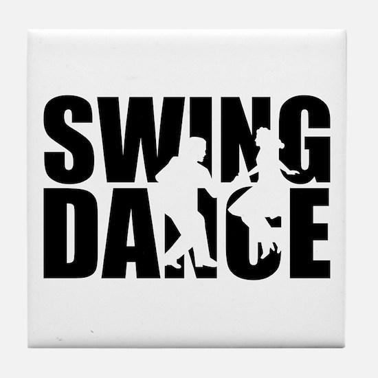 Swing dance Tile Coaster