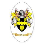 West Sticker (Oval 50 pk)