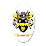 West 35x21 Oval Wall Decal
