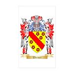 Werner Sticker (Rectangle 50 pk)