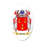 Werhle Oval Car Magnet