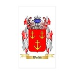 Werhle Sticker (Rectangle 50 pk)
