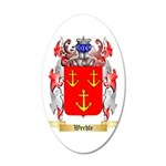 Werhle 35x21 Oval Wall Decal