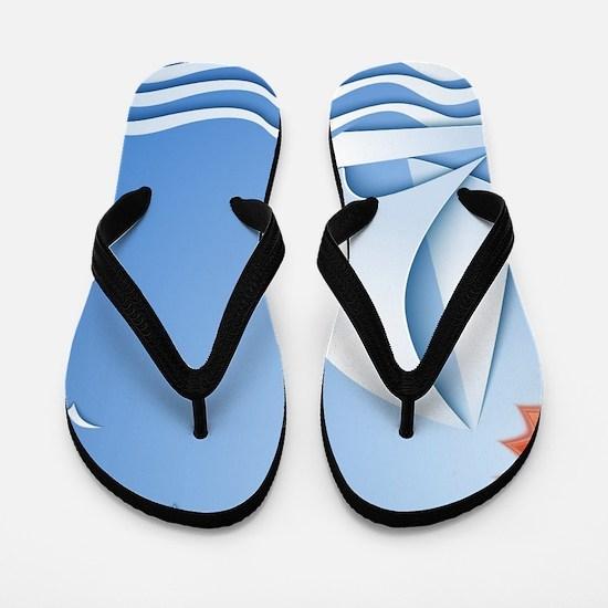 Summer Sailing Flip Flops