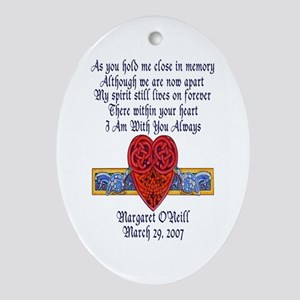 Celtic Heart Memorial Oval Ornament