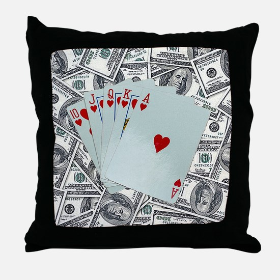 Funny King of hearts Throw Pillow