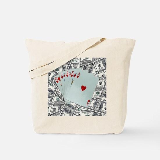 Cute Poker queen Tote Bag