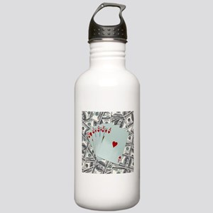 Royal Flush Hearts Stainless Water Bottle 1.0L