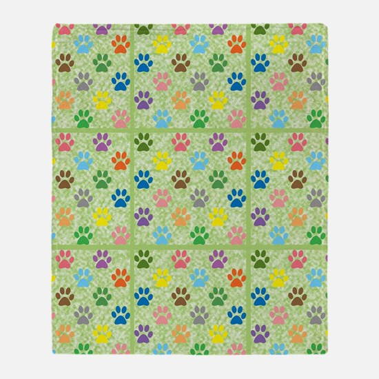 Funny Animal tracks Throw Blanket