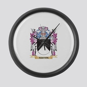 Ashton Coat of Arms (Family Crest Large Wall Clock