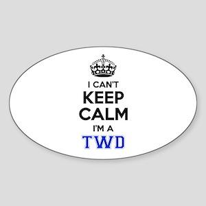 I can't keep calm Im TWD Sticker