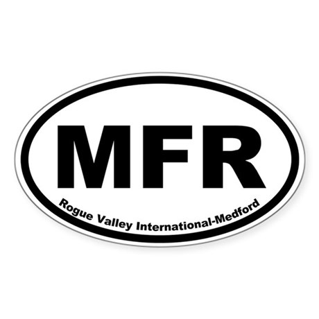 Rogue Valley International-Medford Oval Sticker