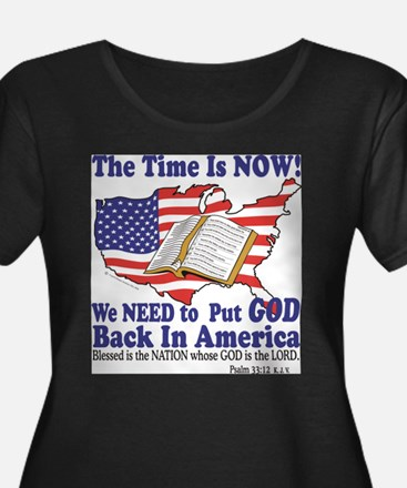 God in Americ Plus Size T-Shirt
