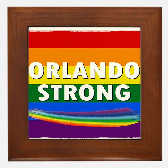 ORLANDO STRONG PRIDE Framed Tile