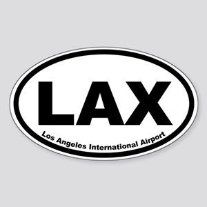 Los Angeles International Airport Oval Sticker