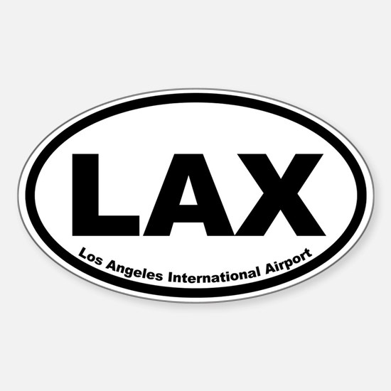 Los Angeles International Airport Oval Decal