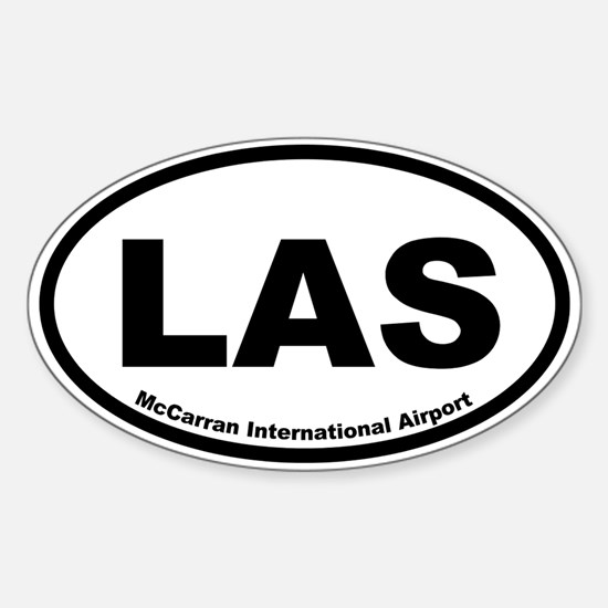 McCarran International Airport Oval Decal