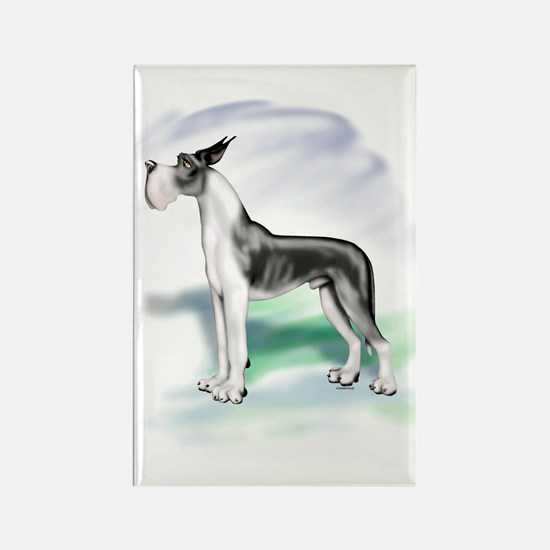 Great Dane Stackin Mantle Rectangle Magnet