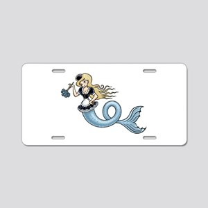 French Mer Maid Aluminum License Plate