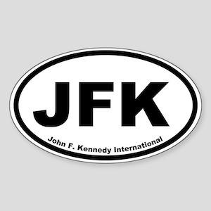 John F. Kennedy International Oval Sticker
