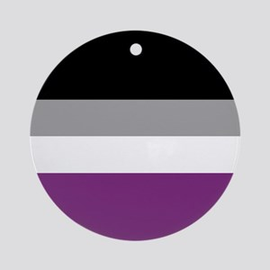 Asexual Flag Round Ornament